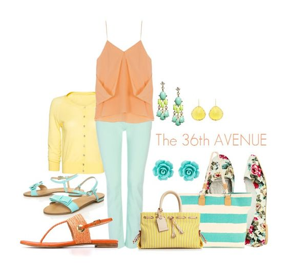 The 36th AVENUE | How to Wear Colored Jean