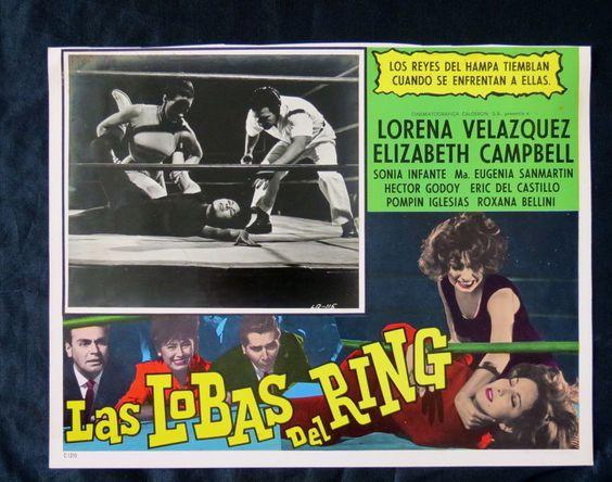 "'LAS LOBAS DEL RING"" LORENA VELAZQUEZS E CAMPBELL N MINT LOBBY CARD PHOTO 1964"