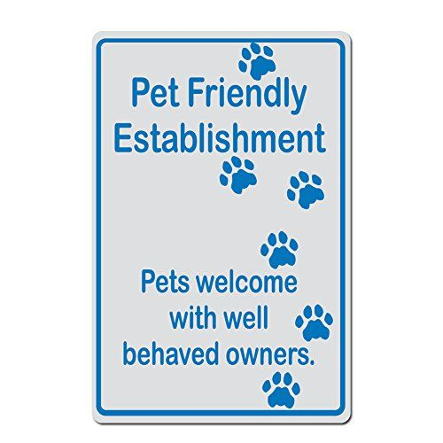 Cat Signs Outdoor Pet Friendly Establishment Pets Welcome With