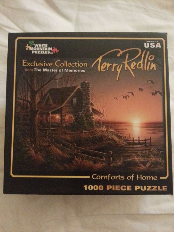 White Mountain Puzzle Terry Redlin Comforts of Home 1000 pc Master of Mem NEW…