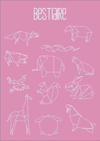 origami animals washitape