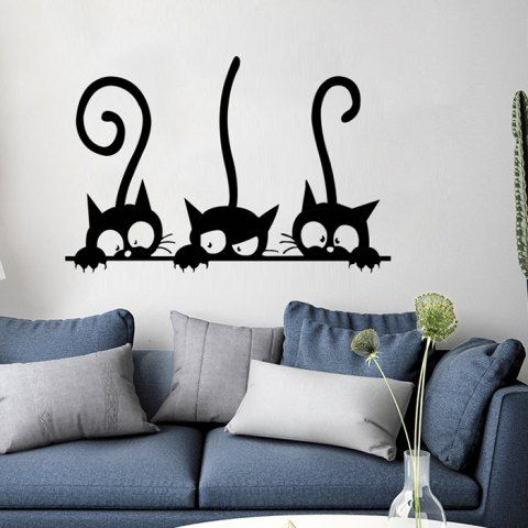 Three Kittens Decoration Painting Wall Stickers Wall Decals For