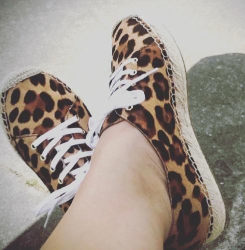 leopard calf hair : Women espadrilles