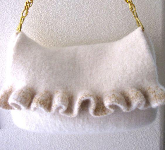 Knit Pattern Ruffle Bag : Pinterest   The world s catalog of ideas