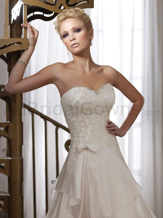 Taffeta Strapless Sweetheart contemporary Hand-beading Bodice A-line Wedding Dress