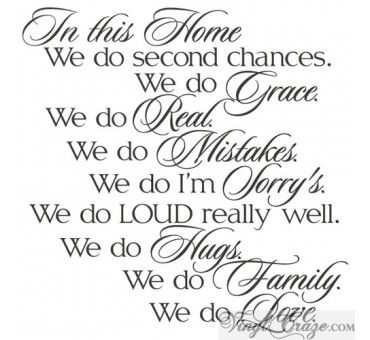 In this Home - We do Love