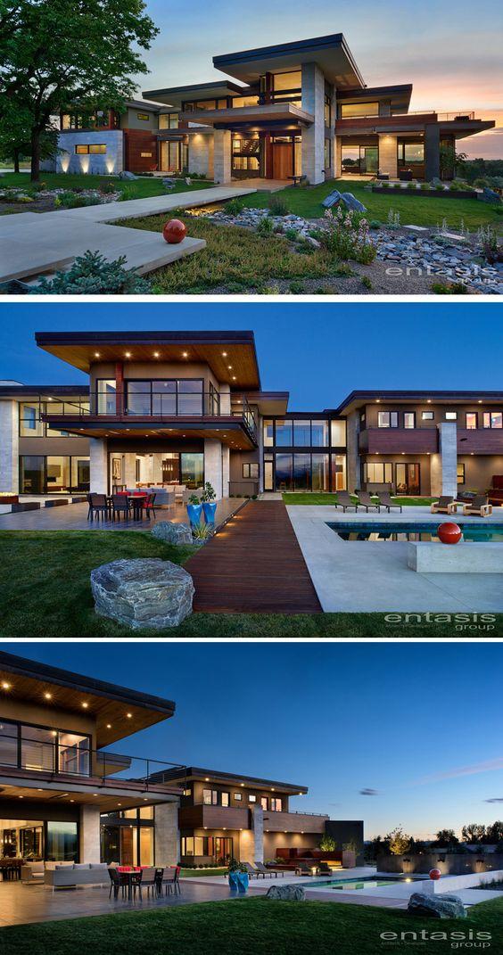 Групата Entasis е проектирала Холи Хаус, нов дом в Cherry Hills Village, Колорадо, с изглед към Скалистите планини.