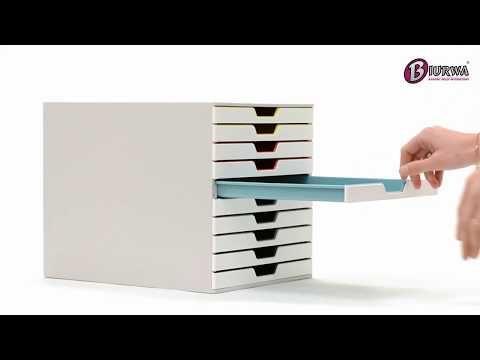 Szuflada Na Dokumenty Biala Durable Varicolor Mix Z 10 Szufladkami Youtube Storage Filing Cabinet Howto