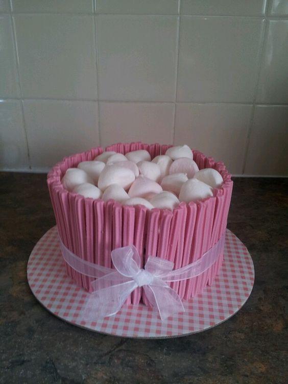 Musk Sticks And Marshmallow Desserts Cake Marshmallow