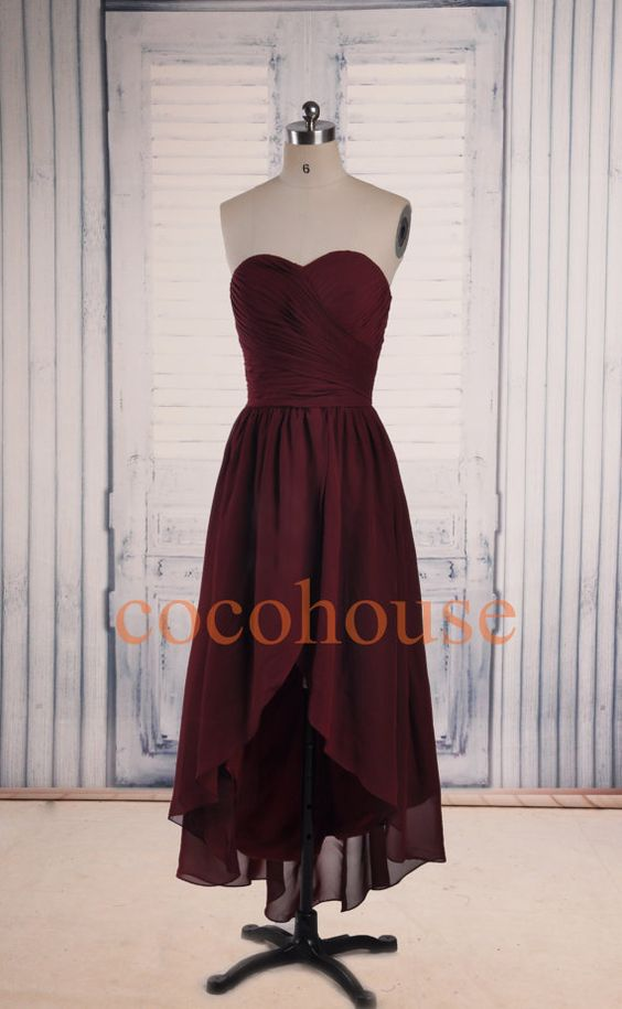 Formal Hi Low Bridesmaid Dresses Fashion Prom Dresses by cocohouse