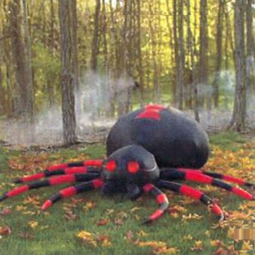 Halloween outdoor spider decorations for Tattoo shops in new braunfels