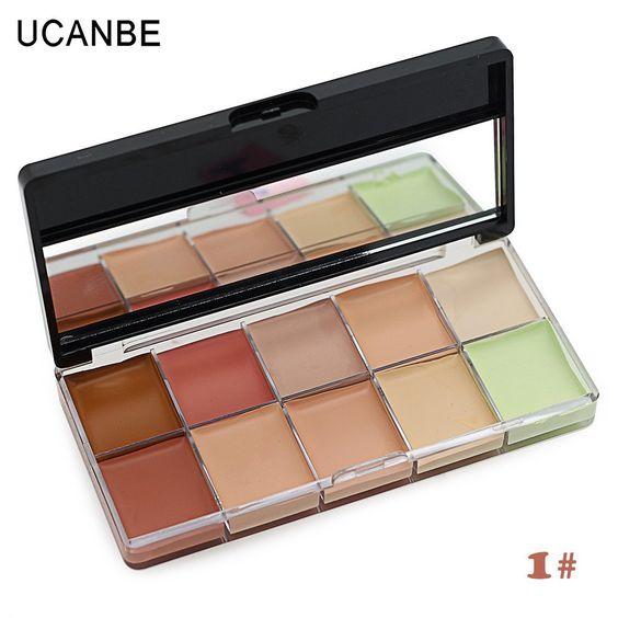 Makeup Concealer Contour Palette Primer Flawless 10 Color Scar Concealer