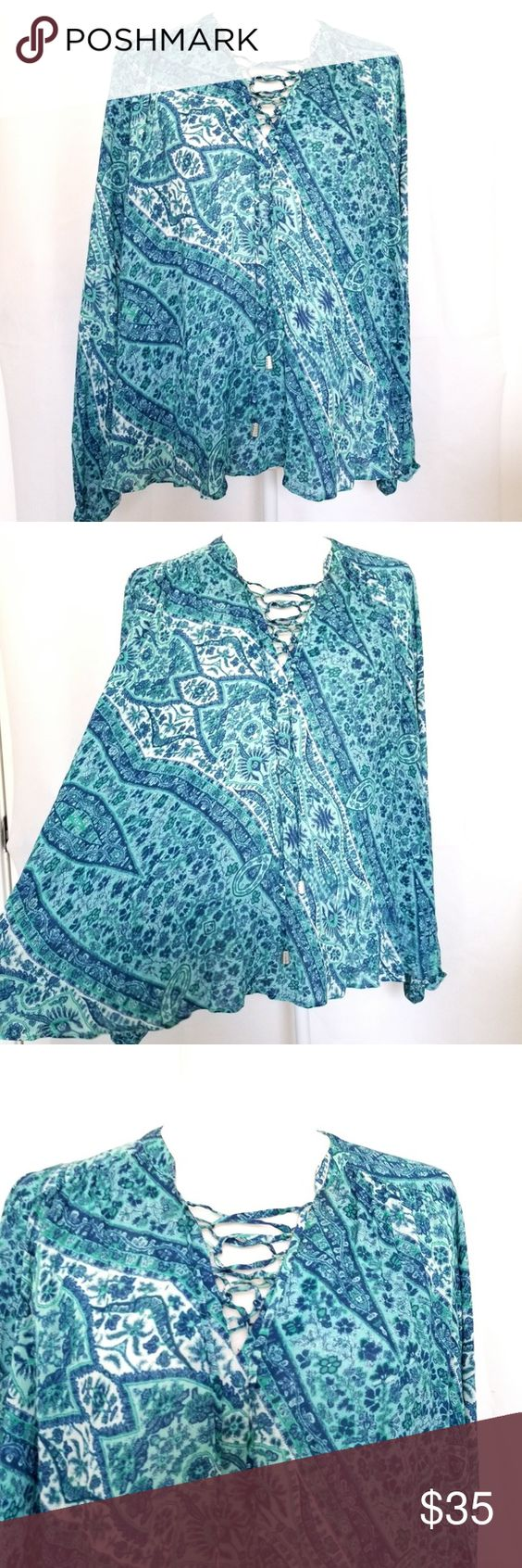 Anthropologie Nanette Lepore 6 Top Loose Fit Blue Loose Fit Blouse Loose Fitting Clothes Design