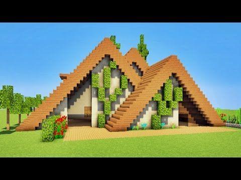 Minecraft Tutorial Modern Home Wood P Minecraft Farm Minecraft Houses Easy Minecraft Houses