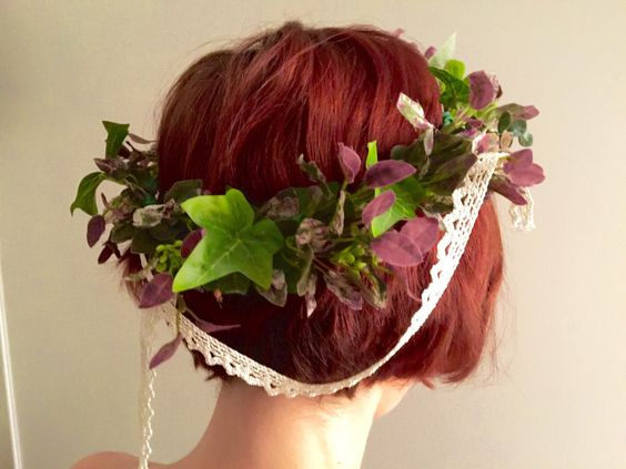 Ivy and purple crown by dahliasanddaydreams on Etsy https://www.etsy.com/listing/264182302/ivy-and-purple-crown