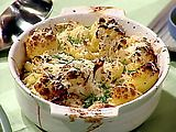 Oven-Roasted Cauliflower with Garlic, Olive Oil and Lemon Juice Recipe