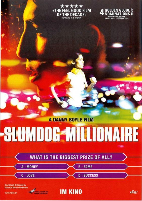 SLUMDOG MILLIONAIRE - Dev Patel Freida Pinto - 2008 ORIG. FILMPOSTER A4