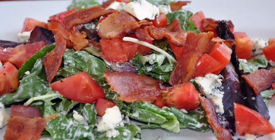 BLT salad with buttermilk dressing | Sides | Pinterest | Blt Salad ...