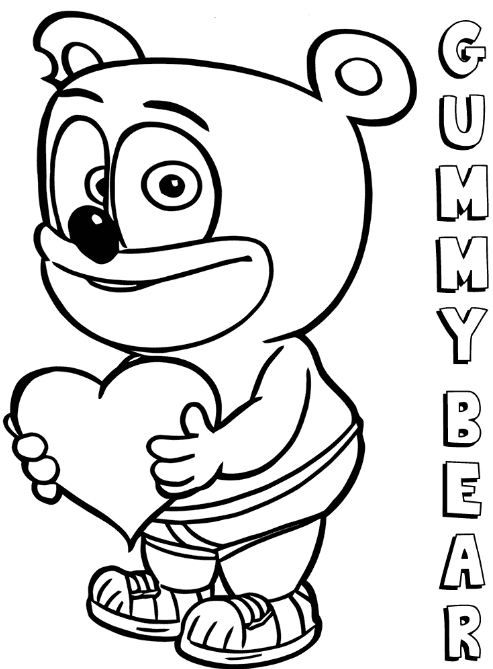 Gummy Bear Coloring Page