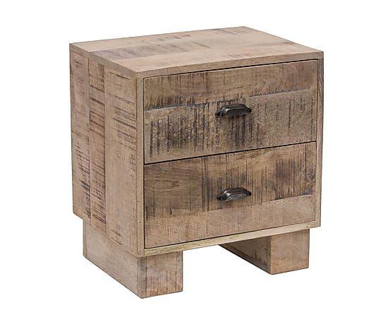 Mesita de noche de madera de acacia norway mueble - Mesitas de noche de madera ...