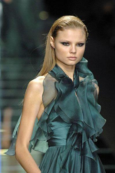 Elie Saab Turquoise Evening dress