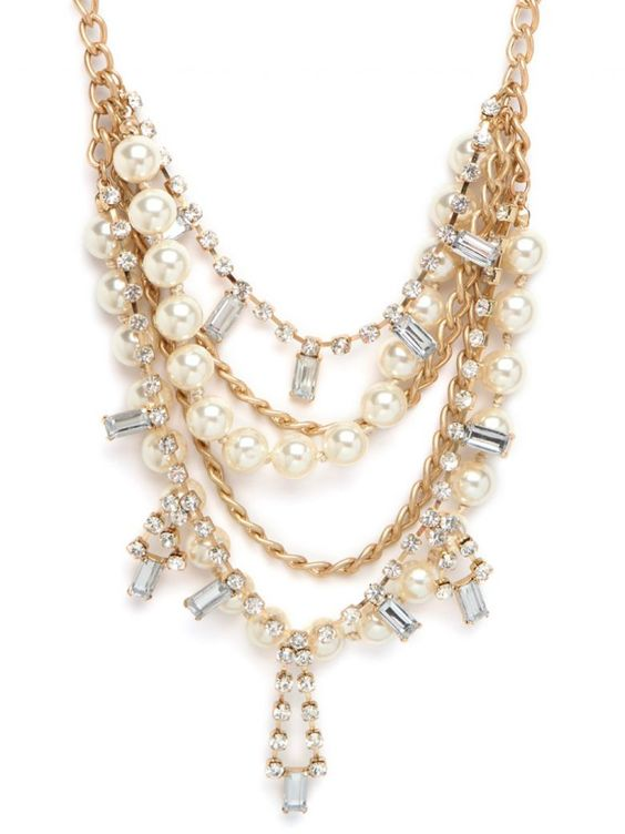 Pearl statement necklace via REVEL