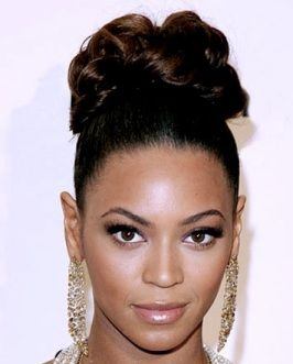 Pleasing Beyonce Chignon Bun And High Bun On Pinterest Short Hairstyles Gunalazisus