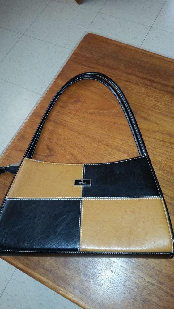 Vintage 1960s Gucci Bag Black Brown Leather Gucci Bag Bags Vintage Handbags