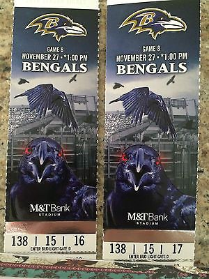 #tickets Baltimore Ravens vs. Cincinnati Bengals, M&T Bank Stadium, 11/27/2016 please retweet