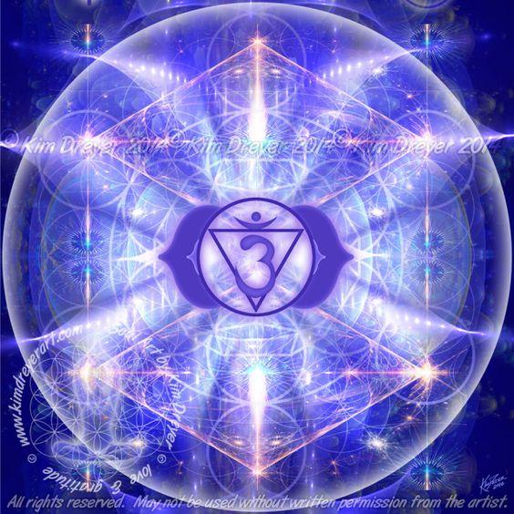 7查克拉分形 - 神聖之光視覺 - 金德雷爾的藝術