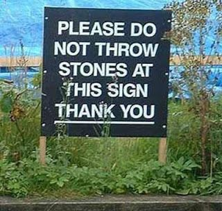 then why is there a sign