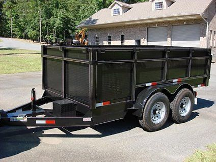 got it new c w brand 7 ton dump trailer 3ft sides new c w brand 7 ton dump trailer 3ft sides