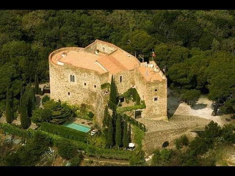 Magnificent 11th Century Hilltop Fortified Castle For Sale With 360 Degree Views Youtube French Chateau Languedoc Castle
