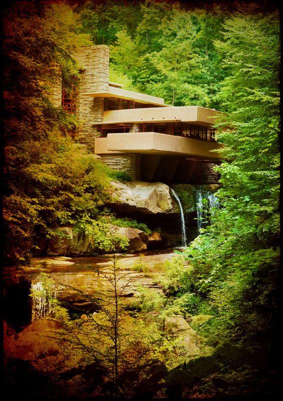 Fallingwater  by Frank Lloyd Wright: