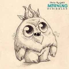 The Moon Gwoulf. #morningscribbles | CHRIS RYNIAK | Flickr