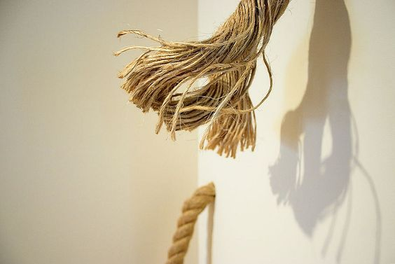 A closeup of my rope-and-twine-obsessed friend Rachel's piece in the Pratt MFA show.