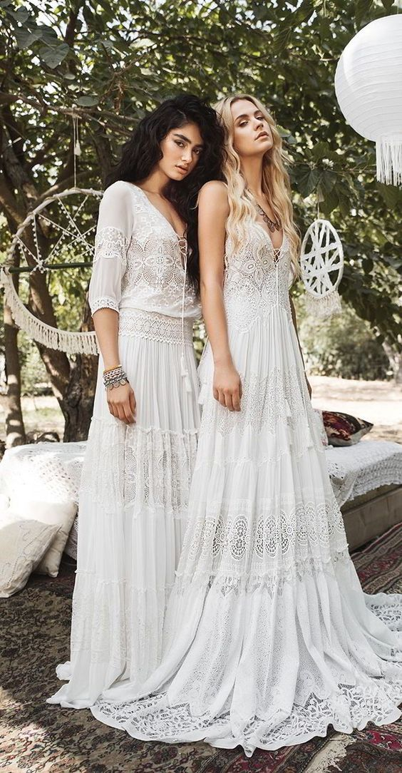wedding dresses inspired by the beautiful, free spirited Gypsy