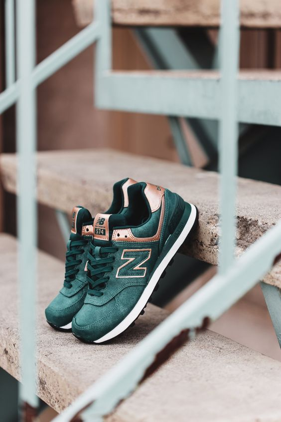 new balance 574 green sneakers