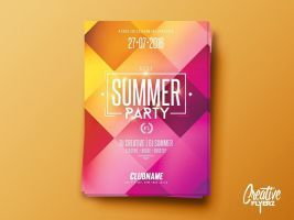 Summer Party | Psd Flyer Template by RomeCreation