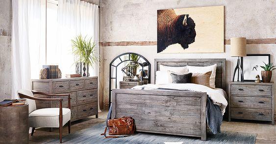 Rustic Bedroom Furniture Set Ranch Bedroom Furniture Pinterest