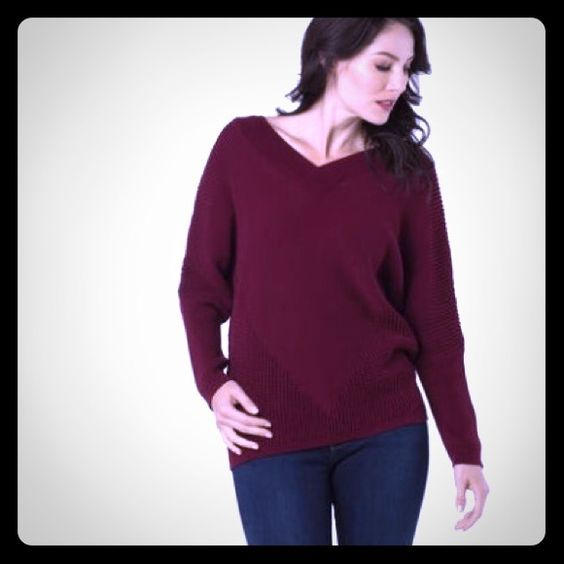 LAMADE oversized sweater in wine/ maroon NWT, love this sweater but it doesn't fit! Beautiful maroon color! See last photo for general sizing guidelines reference... Material 100% linen. No trades! LAmade Tops Tunics