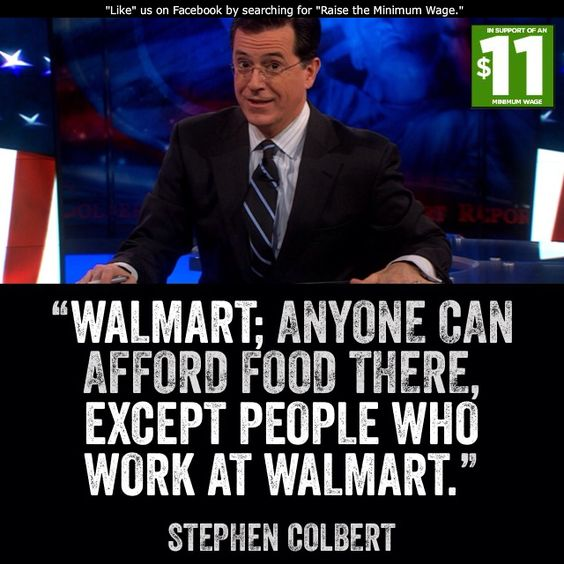 Wal-Mart: Where the CEOs can't bother to give up their extra Bentley, so their employees can get well & get food.