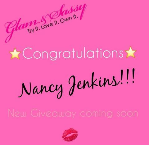Congrats to Nancy Brittain Jenkins on winning our weekly Glam & Sassy Giveaway! Thank you to all that participated. ❤New Glam & Sassy Giveaway coming soon. Stay tuned!!!   glamandsassy.com ✨ #ShowYourSparkle #GlamandSassy