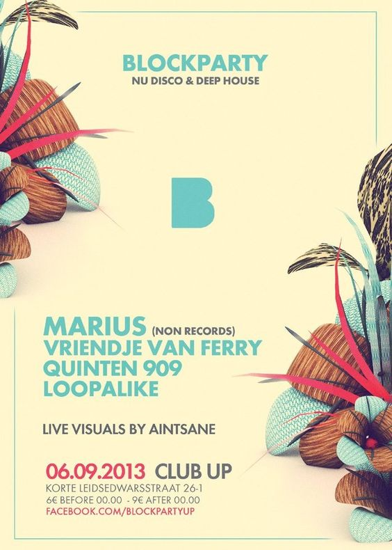 Blockparty | Club Up | Amsterdam | https://beatguide.me/amsterdam/event/club-up-blockparty-nu-disco-deep-house-20130906/poster/