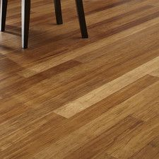 "3-3/4"" Solid Bamboo Hardwood Flooring in Carbonized"