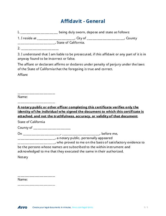 Sample Affidavit Form #sample #affidavit #form Affidavit Forms   Sworn Affidavit  Form  General Affidavit Sample