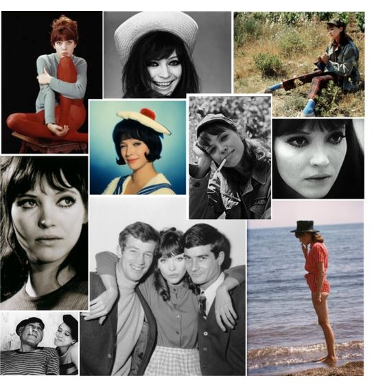 """""""Inspiration: Anna Karina"""" by ravnflaws on Polyvore"""