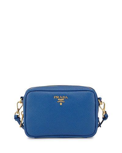 prada hobo bag uk - V2B84 Prada Saffiano Small Crossbody Bag, Cobalt Blue (Azzuro ...