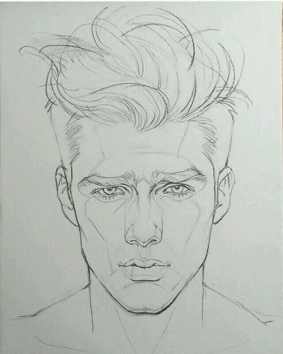 Man S Face Drawing Cool Drawing Mans Face Shape Visit My Youtube Channel To Learn More Drawing And Colorin Male Face Drawing Drawing People Portrait Drawing