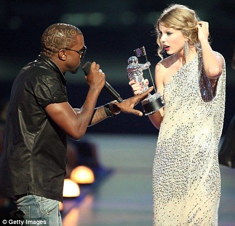 """Kanye West. """"Taylor. I'm really happy for you, I'm going to let you finish, but Beyonce had one of the best videos of all time."""".     I remember when this happened, this son of a bitch needs a good ass kicking to teach him some manners. What a douchebag."""